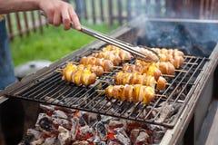 Свежие овощи на барбекю Стоковая Фотография