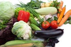 Свежие овощи на белизне. Стоковые Изображения RF