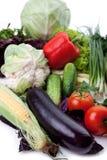 Свежие овощи на белизне. Стоковая Фотография RF