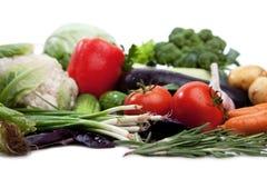 Свежие овощи на белизне. Стоковое Изображение