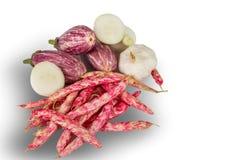 Свежие овощи на белизне Стоковое Фото