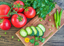 Свежие овощи на таблице Стоковая Фотография RF