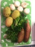 Свежие овощи от фермы на засыхании Стоковое Изображение