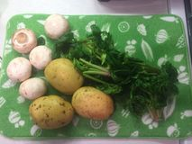 Свежие овощи от фермы на циновке засыхания Стоковые Изображения
