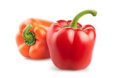 Свежие овощи перца изолированные на белой предпосылке Стоковые Фотографии RF