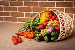 Свежие овощи, плодоовощи и другие продтовары стоковая фотография rf