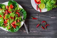 свежие овощи салата Стоковые Фотографии RF