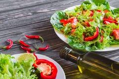 свежие овощи салата Стоковое Фото