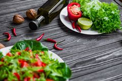 свежие овощи салата Стоковая Фотография RF