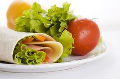 свежие овощи сандвича Стоковые Фотографии RF