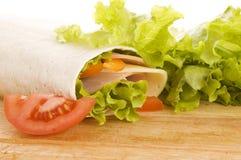 свежие овощи сандвича Стоковое Изображение