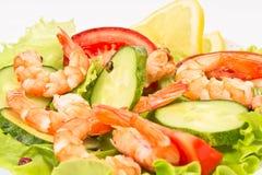 свежие овощи шримсов салата Стоковые Фото