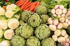 Свежие овощи для продажи Стоковая Фотография