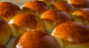 Свежие домодельные хлебцы с семенем sesam Стоковая Фотография