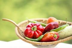 Свежие органические овощи Стоковое Фото