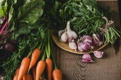 Свежие органические осенние овощи, время сбора Стоковое Фото