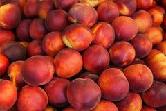 свежие органические персики Стоковое Фото