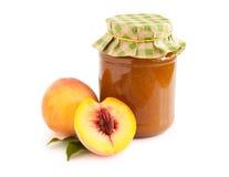 свежие персики персика варенья Стоковое фото RF