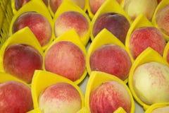 свежие персики стоковые изображения
