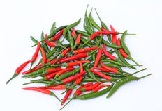 Свежие перцы горячих чилей Стоковые Изображения