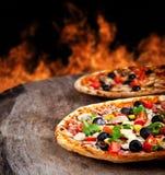 Свежие пиццы Стоковая Фотография