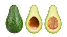 Свежие плодоовощи авокадоа cit в половине изолированной на белой предпосылке стоковое изображение rf