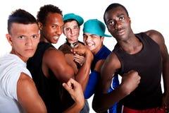свежие подростки вальмы группы молодые Стоковое фото RF