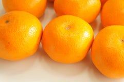 Свежие померанцы мандарина Стоковое фото RF