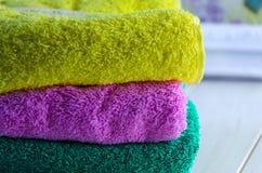 Свежие полотенца Terry Стоковые Фотографии RF