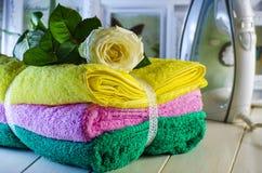 Свежие полотенца Terry Стоковая Фотография