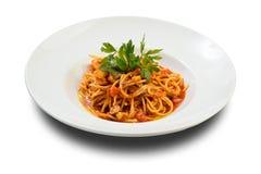 свежие продукты моря макаронных изделия стоковое изображение rf