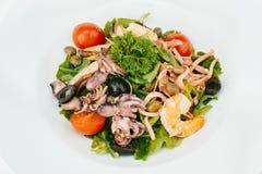 свежие продукты моря салата Стоковая Фотография RF