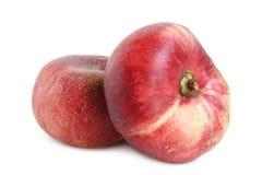 Свежие плоские плодоовощи персика Стоковые Изображения
