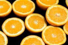 Свежие плодоовощи апельсинов cuted в половине Стоковые Фото