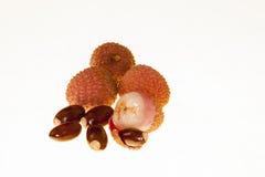 Свежие плодоовощи lychee  Стоковые Изображения