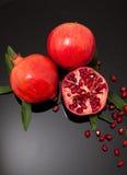 Свежие плодоовощ гранатового дерева и семена гранатового дерева Стоковое Изображение