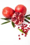 Свежие плодоовощ гранатового дерева и семена гранатового дерева Стоковая Фотография