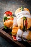 Свежие сандвичи багета стоковые изображения rf