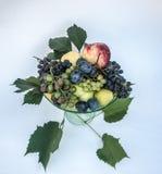Свежие смешанные плодоовощи на плите Стоковое фото RF