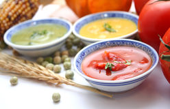 свежие супы Стоковое Изображение