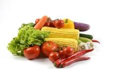 Свежие сырцовые овощи для здоровой изолированные на белой предпосылке чистый dieting еды и здоровая концепция натуральных продукт Стоковое Изображение