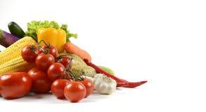 Свежие сырцовые овощи для здоровой изолированные на белой предпосылке для знамени чистый dieting еды и здоровая концепция натурал Стоковое Изображение