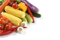 Свежие сырцовые овощи для здоровой изолированные на белой предпосылке чистый dieting еды и здоровая концепция натуральных продукт Стоковое Фото