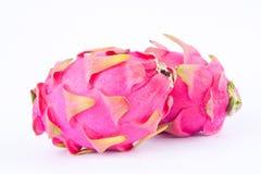 Свежие сырцовые органические dragonfruit или pitaya плодоовощ дракона на изолированной еде плодоовощ дракона белой предпосылки зд Стоковое Фото