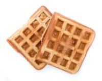 Свежие сделанные Waffles (изолированные на белизне) Стоковые Изображения RF