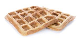 Свежие сделанные Waffles (изолированные на белизне) Стоковые Фотографии RF