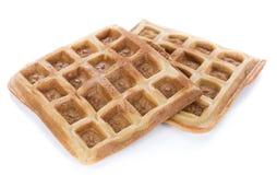 Свежие сделанные Waffles (изолированные на белизне) Стоковое Изображение RF