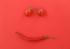 Свежие томаты вишни и оливки kalamata на здравице Стоковая Фотография