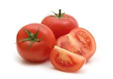 свежие томаты ломтика стоковое изображение rf