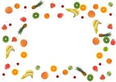 свежие фрукты граници цветастые Стоковое фото RF